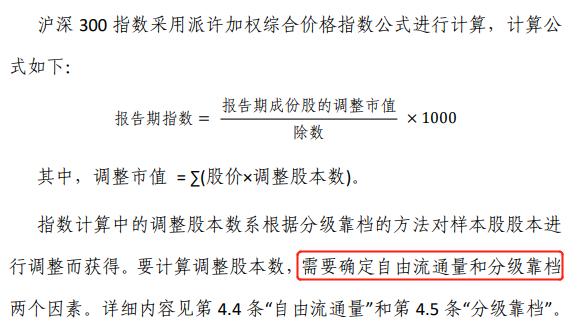 沪深300指数编制规则